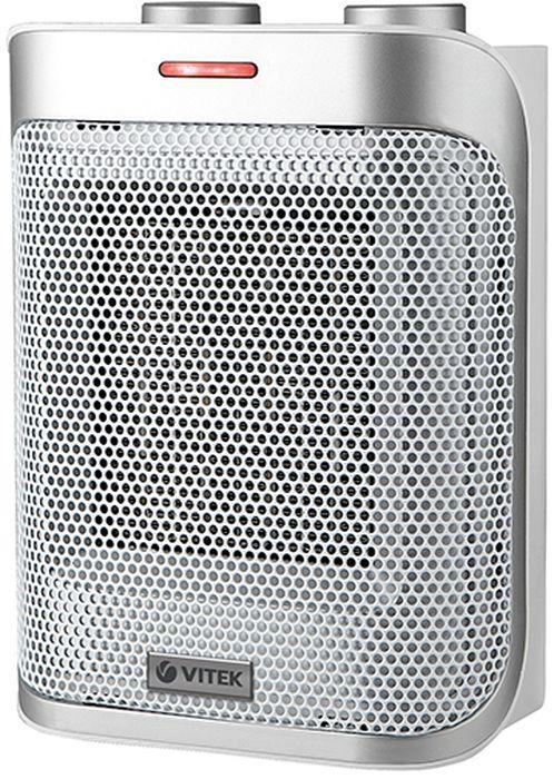 Vitek VT-2050(GY) тепловентиляторVT-2050(GY)Тепловентилятор Vitek VT-2050 GY с керамическим нагревательным элементом способен создать и поддерживать комфортный микроклимат на площади до 20 кв. м. Эта модель подходит для жилых комнат и небольших офисов, хорошо вписывается в современный интерьер. Во время работы она не сушит воздух и не сжигает кислород.Тепловентилятор имеет два режима, благодаря чему вы можете регулировать обогрев, выбирая большую или меньшую мощность в соответствии со своими предпочтениями. В жаркую погоду Vitek VT-2050 GY можно использовать как обычный вентилятор.Как выбрать обогреватель. Статья OZON Гид