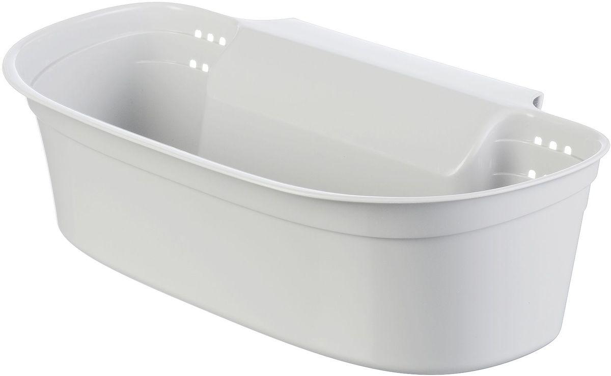 Органайзер для мусора Idea, цвет: белый, 9,5 х 17,5 х 31 см idea ящик для игрушек моби цвет бирюзовый 41 5 х 60 х 32 см