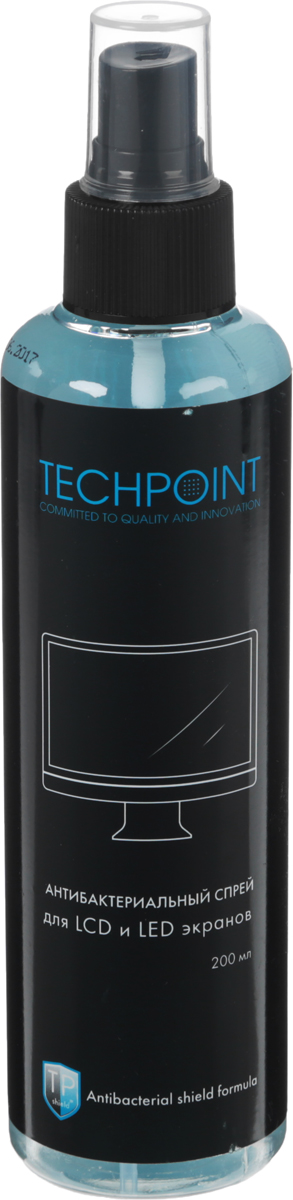 Средство для ухода за LED и LCD экранами Techpoint, антибактериальное, 200 мл
