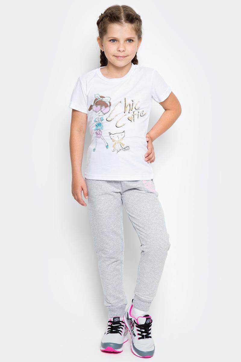 Брюки спортивные для девочки Free Age, цвет: серый меланж. ZG 10250-M-2. Размер 146, 10 лет брюки спортивные для девочки free age