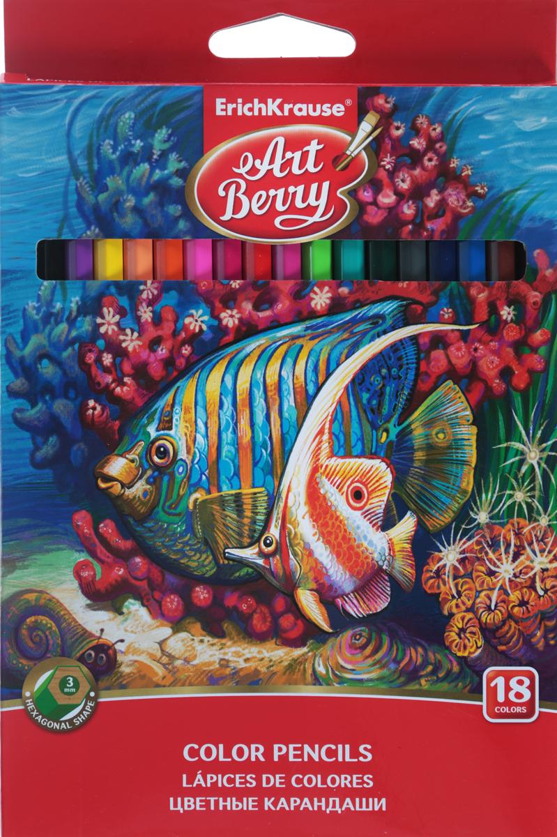 Erich Krause Набор цветных карандашей 18 шт набор цветных карандашей maped color peps 12 шт 683212 в тубусе подставке