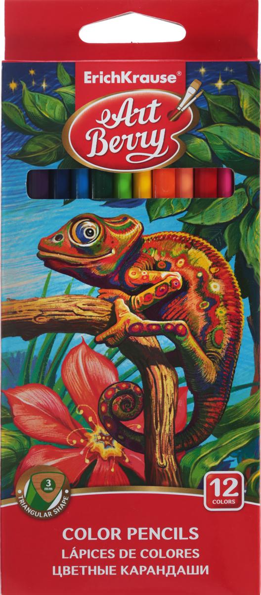 Erich Krause Набор цветных карандашей 12 шт 3247932479Набор цветных карандашей Erich Krause подойдет любому юному художнику. Карандаши легко и аккуратно затачиваются и имеют яркие насыщенные цвета. Мягкий грифель легко рисует на бумаге и не царапает ее.В наборе 18 цветных карандашей, изготовленных из натурального дерева, треугольной формы.