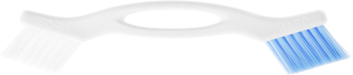 Щетка для пола Ohe Joint Brush, для труднодоступных мест, двусторонняя. 671142671142Двусторонняя щетка предназначена для удаления пыли и грязи в труднодоступных местах, таких как оконные полозья, стыки между плитками, стыки между пластиковыми панелями и др. Особенности продукта:Жесткие волокна голубого цвета прекрасно удаляют грязь на стыках между плитками стен и пола.Волокна средней жесткости белого цвета подходят для удаления пыли и грязи с пластиковых панелей и оконных полозьев.Поскольку сама щетка и пластиковые детали щетки обработаны гидрофобным материалом, они постоянно остаются чистыми, к ним не пристают жир и грязь.Внимание при применении: после использования хорошо промойте и просушите. Не оставляйте рядом с нагревательными приборами. Не используйте в других целях, кроме описанных выше. Состав: полипропилен. Выдерживает температуру до 80°С