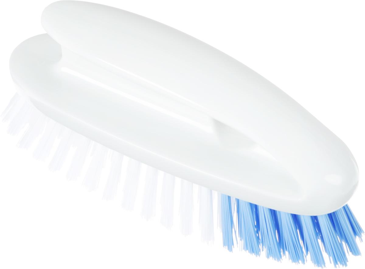 Щетка для пола Ohe Tile Brush, с ручкой, для ванны, утюжок671159Жесткая щетка с ручкой Ohe Tile Brush предназначена для очистки плитки в ванной. Замечательно очищает пространство между плитками.Удобная ручкапозволяет легко применить силу при необходимости. Особенности продукта: Волокна голубого цвета, которые находятся в передней части щетки, имеют жесткую природу, поэтому удобны для очистки углов отвъевшейся грязи. Отверстие в корпусе предназначено для того, что бы повесить щетку на крючок. Поскольку сама щетка и пластиковые детали щетки обработаны гидрофобным материалом, они постоянно остаются чистыми, к ним непристают жир и грязь.Внимание при применении: после использования хорошо промойте и просушите. Не оставляйте рядом с нагревательными приборами. Неиспользуйте в других целях, кроме описанных выше.Состав: полипропилен.Выдерживает температуру до 80°С