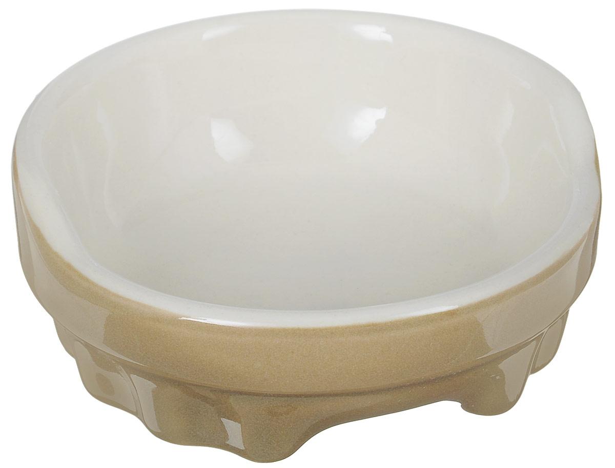 Миска для животных Nobby, цвет: светло-коричневый, светло-бежевый, 170 мл миска для животных vanness цвет горчичный 236 мл