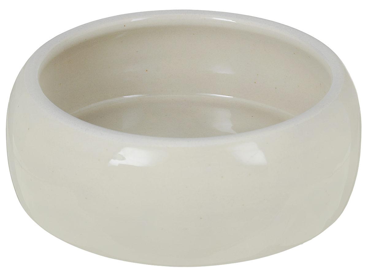 Миска для животных Nobby, цвет: бежевый, 750 мл37307Миска с выпуклыми стенками Nobby выполнена из керамики, покрытой глазурью. Миска достаточно тяжелая, поэтому не будет скользить по полу. Прекрасно подойдет для собак и кошек. Диаметр миски по верхнему краю: 13 см. Высота миски: 6 см. Диаметр основания: 15 см.