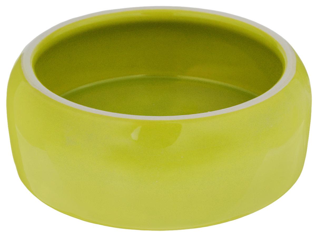 Миска для животных Nobby, цвет: зеленый, 500 мл37317Миска с выпуклыми стенками Nobby выполнена из керамики, покрытой глазурью. Миска достаточно тяжелая, поэтому не будет скользить по полу. Прекрасно подойдет для собак и кошек. Диаметр миски по верхнему краю: 12 см. Высота миски: 6 см. Диаметр основания: 14 см.