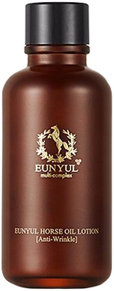 Eunyul Лосьон с лошадиным маслом, 125 мл8809435401879Eunyul Horse Oil Woman Lotion – легкий, приятный для кожи, дарящий ей мгновенное чувство комфорта лосьон. Предназначен для глубокого питания, увлажнения и восстановления кожи. Подходит для любого типа, но особенно рекомендуется для сухой, склонной к шелушению и увядающей кожи. Состав лошадиного жира близок к человеческому жиру, поэтому он быстро впитывается и хорошо воспринимается кожей и оказывает на нее благоприятное воздействие. Сразу при нанесении крем увлажняет кожу, устраняет шелушения, питает и смягчает. При регулярном применении улучшает обмен веществ и значительно ускоряет процесс обновления клеток кожи. Оказывает стимулирующее действие на выработку коллагена, благодаря чему кожа становится более упругой и эластичной, разглаживаются морщины, осветляется пигментация.