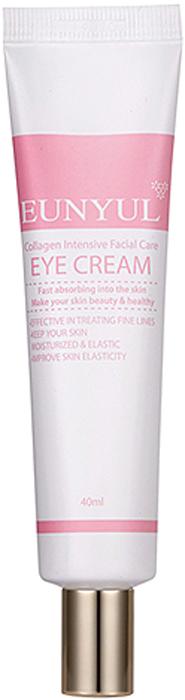 Eunyul Интенсивный крем для глаз с коллагеном, 30 мл8809435402470Эффективный антивозрастной уход для нежной кожи век. Крем оказывает выраженное омолаживающее действие, способствует разглаживанию морщинок, осветлению пигментации, устранению мешков и темных кругов под глазами. В составе крема коллаген, который восполняет недостаток собственного, запускает клеточное восстановление, а также помогает поддерживать оптимальный уровень увлажненности. Крем с коллагеном для кожи вокруг глаз увлажняет и подтягивает кожу, повышает ее эластичность и упругость, способствует разглаживанию неглубоких морщинок и делает менее выраженными глубокие, борется с возрастной пигментацией, уменьшает обвисание верхнего века.