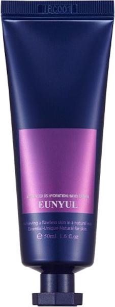 Eunyul Крем для рук увлажняющий, 50 мл8809435402951Если на коже появляются белые пятна, она становится дряблой и сухой, стареет, одной из причин является недостаток витамина В5. Витамин B5 (пантотеновая кислота, пантотенат кальция) – витамин, который играет важную роль в клеточных процессах, помогает клеткам в выработке энергии, обладает высокой эффективностью при лечении угревой сыпи и акне, увлажняет, помогает справиться с сухостью и шелушениями, повышает сопротивляемость кожи негативным факторам внешней среды, разглаживает морщинки. Линия средств Advanced B5 Hydration от Eunyul содержит витамин B5, благодаря которому кожа дольше остается молодой, красивой и здоровой. Также в составе линии аденозин – высокоэффективный антивозрастной компонент, который также способствует производству клеточной энергии, расслабляет лицевые мышцы, разглаживает морщины и предупреждает появление новых. Eunyul Advanced B5 Hydration Hand Cream – крем для рук, который дарит коже мгновенное увлажнение и свежесть, снимает сухость и шелушения, ускоряет заживление ранок и царапин. Крем делает кожу рук мягкой, нежной и увлажненной, оздоравливает и омолаживает ее.