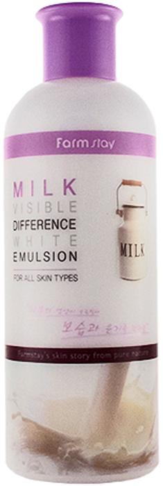 FarmStay Увлажняющая и осветляющая эмульсия с экстрактом молока, 350 мл8809514480184Нежная, легкая, молочная эмульсия с молочным экстрактом – спасение для сухой и чувствительной кожи, хотя может применяться для любого типа. Эмульсия хорошо распределяется по коже, быстро впитывается, мгновенно увлажняет и питает кожу, устраняет сухость и шелушения, дарит коже чувство комфорта без утяжеления, жирности или липкой пленки. В составе эмульсии молочный экстракт – эликсир красоты и молодости кожи, оказывает на нее благотворное воздействие, восстанавливая важные биологические функции и обменные процессы, ускоряет регенерацию клеток в зародышевом слое кожи, а также стимулирует синтез коллагена. Эмульсия с молочным экстрактом глубоко питает и увлажняет кожу, освежает ее, смягчает, повышает эластичность и упругость, разглаживает морщины, а также осветляет кожу, выравнивает ее тон, делает светлой, свежей, сияющей.