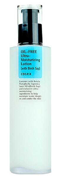 Cosrx Ультра-увлажняющий безжировой лосьон, 100мл, CosRX8809416470559Ультра-увлажняющий лосьон с березовым сокомЛосьон без масла и воды оказывает глубокое увлажняющее действие. Может использоваться для любого типа кожи, но особенно рекомендуется длячувствительной, склонной к аллергии коже, а также для проблемной, склонной к появлению прыщей и гнойничковым высыпаниям кожи. Средство оказывает увлажняющее и восстанавливающее действие, помогает справиться с кожными раздражениями, ускоряет заживление акне и предупреждает появление новых высыпаний. Кроме того, лосьон повышает тонус и упругость кожи, разглаживает ее и выравнивает тон. Березовый сок – глоток живительной влаги для каждой клеточки кожи, насыщает минералами, витаминами и микроэлементами. Оказывает освежающее и тонизирующее действие, снимает раздражения, ускоряет заживление воспалений, оказывает мягкое отбеливающее действие. Экстракт листьев чайного дерева – мощнейший антисептик, природное противовоспалительное, бактерицидное, противогрибковое, противовирусное средство, оказывает ранозаживляющее действие, устраняет покраснения и зуд, а также способствует очищению кожи, вытягивая гной из ее пораженных участков. Гиалуроновая кислота глубоко увлажняет кожу и защищает от обезвоживания, так как создает на ее поверхности тончайшую пленку, запирающую влагу внутри. Оказывает противовспалительное действие, успокаивает кожу, снимает покраснения, ускоряет заживление микроповреждений и раздражений. Пантенол – спасение для сухой, обезвоженной, повреждённой и начинающей стареть кожи. Способствует восстановлению и регенерации эпидермиса. Омолаживающее действие пантенола выражается в ускорении выработки коллагена, повышении упругости и эластичности кожи, а также в разглаживании морщин.
