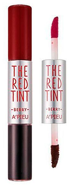 APieu Гелевый тинт для губ, ягоды, 2,3 / 2,4 г8806185711432Невероятно сочные, яркие, глянцевые губы – результат использования тинта-блеска от APieu. Двустороннее средство представляет собой сочетание стойкого тинта и изумительного блеска. Достаточно всего нескольких штрихов аппликаторами – и губы обретут невероятно привлекательный вид, визуально станут более пухлыми и манящими. В составе тинтов красные экстракты, которы обладают мощными антиоксидантными свойствами, оберегают нежную кожу губ от преждевременного старения, а также увлажняют и успокаивают кожу, устраняют шелушения, делают кожу гладкой и шелковистой. Возможные оттенки:01. Strawberry – клубника 02. Cranberry – ягоды