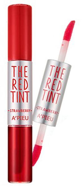 APieu Гелевый тинт для губ, клубника, 2,3/2,4 г8806185711449Невероятно сочные, яркие, глянцевые губы – результат использования тинта-блеска от APieu. Двустороннее средство представляет собой сочетание стойкого тинта и изумительного блеска. Достаточно всего нескольких штрихов аппликаторами – и губы обретут невероятно привлекательный вид, визуально станут более пухлыми и манящими. В составе тинтов красные экстракты, которы обладают мощными антиоксидантными свойствами, оберегают нежную кожу губ от преждевременного старения, а также увлажняют и успокаивают кожу, устраняют шелушения, делают кожу гладкой и шелковистой. Возможные оттенки:01. Strawberry – клубника 02. Cranberry – ягоды