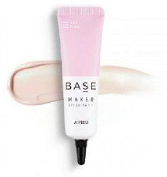 APieu База под макияж № 103 розовая, 20 г8806185782890База под макияж создает естественный оттенок кожи, выравнивает цвет лица и делает макияж более стойким.APIEU Base Maker (103 Pink) средство содержит увлажняющий комплекс, комплекс пророщенных ростков, масло оливы, экстракт граната. Тон кожи яркий и сияющий, сужает поры и выравнивает текстуру кожи. Подходит для экспресс-макияжа.Экстракт граната стимулирует увлажнение, предотвращает воспаления, является прекрасным антиоксидантом.
