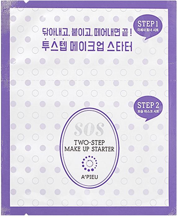 """APieu Маска для подготовки кожи к макияжу, 22 г8806185785280Набор, подготавливающий кожу к макияжу, для ответственного выхода. Состоит из двух шагов. 1 шаг- очищающая салфетка-спонж, пропитанная специальным составом, полирующим кожу, отшелушивающим мертвые клетки. 2 шаг – питательная сыворотка-крем в маске. Готовит кожу к нанесению макияжа, питает, увлажняет и разглаживает при помощи масел оливы, макадамии и авокадо. Экстракт лаванды расслабляет и успокаивает.Применение: шаг 1 – протереть кожу салфеткой, шаг 2 – нанести маску на кожу лица, оставить на 5 минут, затем снять. Меры предосторожности: избегать попадания в глаза, в случае несовместимости с кожей прекратите использование.Состав [INGREDIENTS] см. на упаковке.Изготовитель: """"ABLE C&C Co. , Ltd"""", Korea, 3F, A Bldg, SK Twin Tech Tower, 119, Gasan Digital 1-ro, Geumcheon-gu, Seoul.Страна происхождения: Республика Корея.Импортер: ООО «Альянс-импорт», 690037, Российская Федерация, Приморский край, г. Владивосток, улица Адмирала Юмашева, дом 38, кабинет 1, impexunion@gmail. com, +74232277307Дистрибьютор и организация, уполномоченная изготовителем на принятие претензий от покупателей: ООО Инес Трейд Тел. +7 499 653 73 62, 119330 Москва ул. Мосфильмовская-35, info@koreancosmeticsopt. ru Срок годности: 36 мес. Годен до: см. на упаковке (в формате гггг. мм. дд. ). Номер партии указан на упаковке.Условия хранения: хранить при температуре от5 до 25 С.Номинальный объем: 4 мл+ 7 мл"""