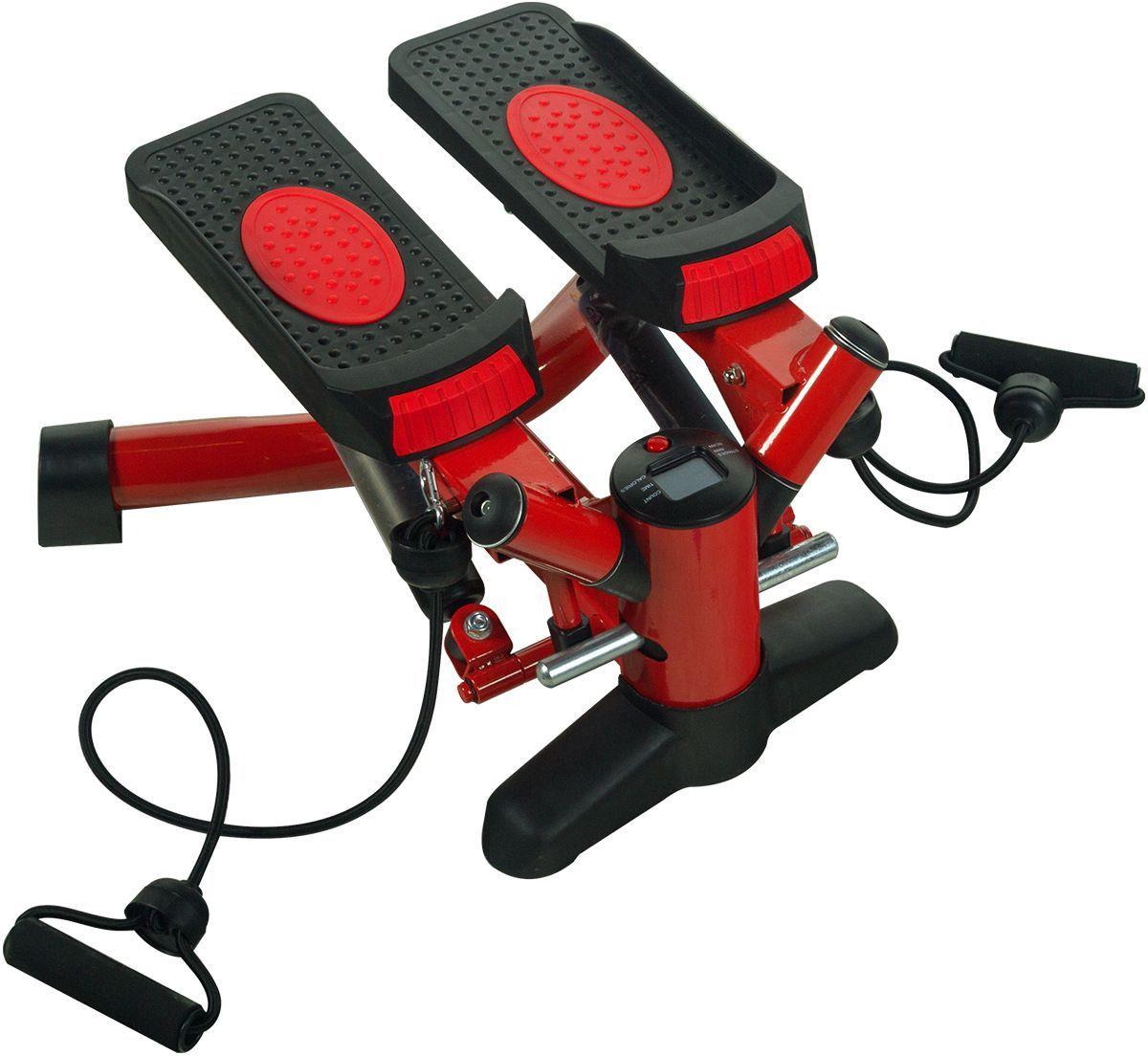 Тренажер для бедер и ягодиц Starfit HT-102 Mini Stepper, с эспандерамиУТ-00007558Тренажер для бедер и ягодиц HT-102 Mini Stepper - это тренажер STARFIT, который необходим и профессиональному атлету, и обычному офисному работнику. Он безопасен для новичков и занимает мало места при хранении.Функция поворота ступней позволяет производить ротацию тазобедренного сустава, что в свою очередь позволяет, при полном поднятии стопы в верхней точке, максимально растягивать волокна ягодичных мышц, что в итоге спровоцирует их более полноценную проработку.Дополнительное отягощение в виде эспандеров разнообразит тренинг и сделает его функциональным.Научно доказано, что степперы могут сжечь больше калорий, чем любые другие кардио-тренажеры при условиях одинаковой интенсивности. Степпер – необходимый помощник в тренировке ягодиц, задней поверхности бедра, квадрицепсов, икроножных и камбаловидных мышц.