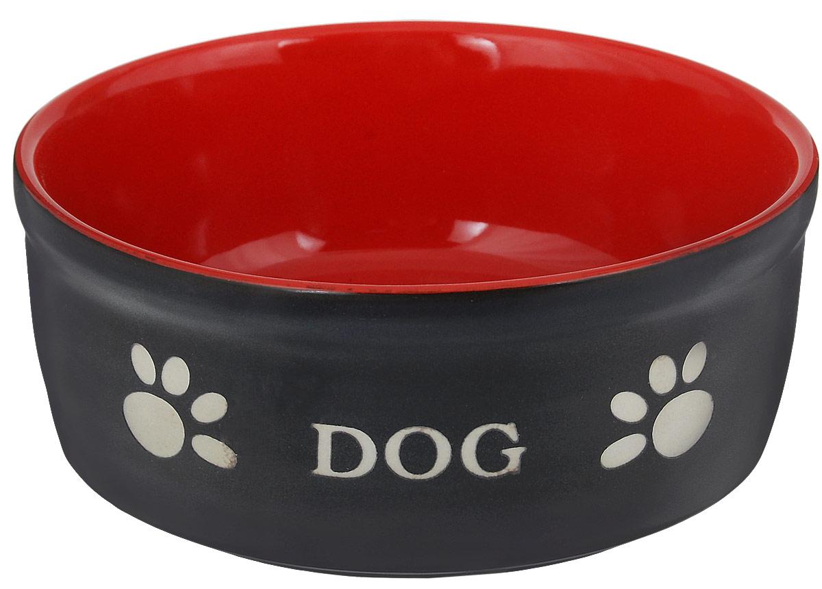 Миска для собак Nobby  Dog , цвет: красный, черный, 460 мл - Аксессуары для кормления