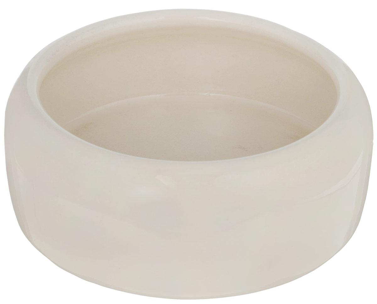 Миска для животных Nobby, цвет: бежевый, 500 мл37305Миска с выпуклыми стенками Nobby выполнена из керамики, покрытой глазурью. Миска достаточно тяжелая, поэтому не будет скользить по полу. Прекрасно подойдет для собак и кошек. Диаметр миски по верхнему краю: 12 см. Высота миски: 6 см. Диаметр основания: 14 см.