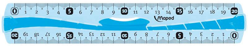 Maped Линейка Flex цвет синий 20 см244120_синийЛинейка - необходимый инструмент вашего рабочего стола.Линейка Maped Flex гибкая, цветная может понадобиться при изучении любого школьного предмета. Провести прямую линию и начертить отрезок на уроке математики? Легко! Подчеркнуть подлежащее, сказуемое или деепричастный оборот в домашнем задании по русскому языку? Проще простого!Линейка имеет резиновый держатель, что очень удобно при использовании. По всей длине линейки - резина, поэтому не страшно, если ваша линейка согнется, она с легкостью вернется в исходное положение.Возможности применения этого приспособления широки: оно пригодится как на занятиях в учебном заведении, так и при выполнении работы дома, а также поспособствует развитию начальных навыков черчения!