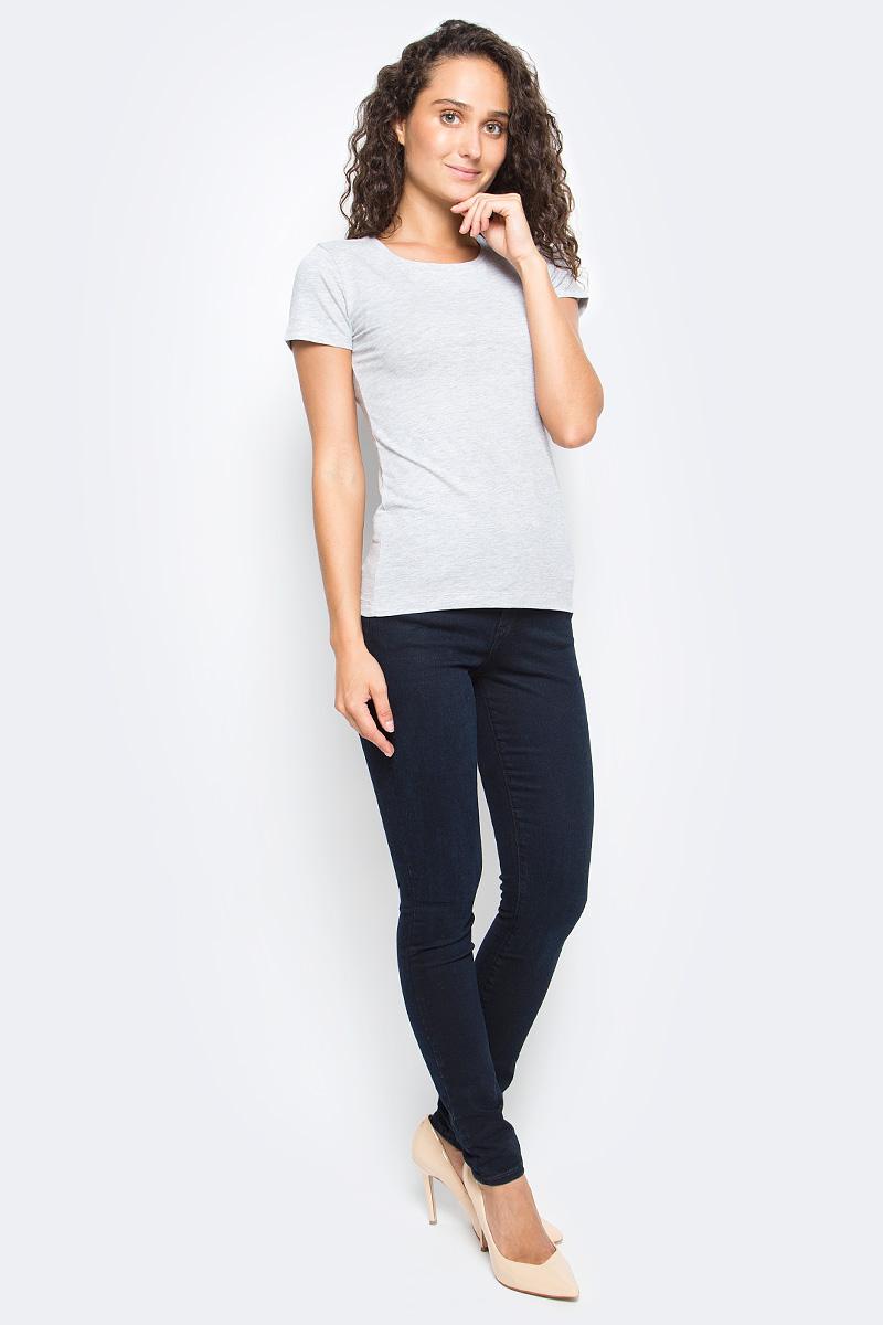 Футболка женская Sela, цвет: серый меланж. Ts-111/1323-7390. Размер XS (42)Ts-111/1323-7390Базовая женская футболка Sela изготовлена из хлопка с добавлением эластана. Модель полуприлегающего силуэта имеет круглый вырез горловины и короткие рукава. Легкая и комфортная футболка удобна в носке.