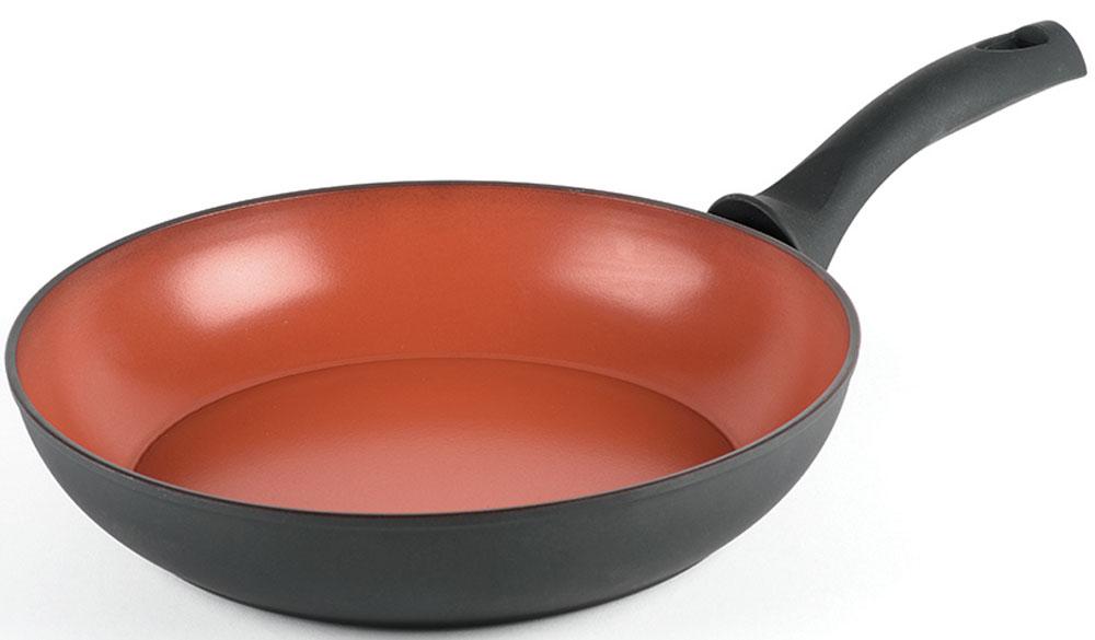 Сковорода Domo Terranova, с антипригарным покрытием. Диаметр 28 см8013587094999Сковорода Domo Terranova с антипригарным покрытием. Толщина дна ивысота бортов сковороды оптимальны для различных способов приготовления.Диаметр сковороды: 28 см.