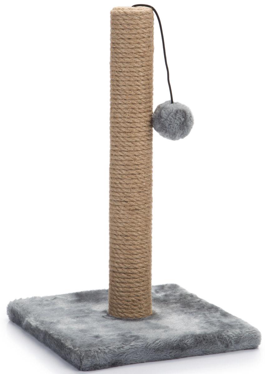 Когтеточка-столбик Beeztees Kali, цвет: серый, 25 х 25 х 42 см408940Когтеточка-столбик Beeztees Kali поможет приучить кошку точить коготки в строго определенном месте. Она изготовлена из сизаля, натурального прочного материала.Размер: 25 х 25 х 42 см.