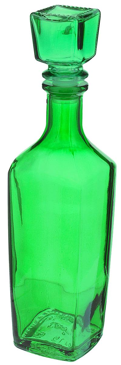 Штоф Хрустальный звон Элегант. Радуга, цвет: зеленый, 500 мл