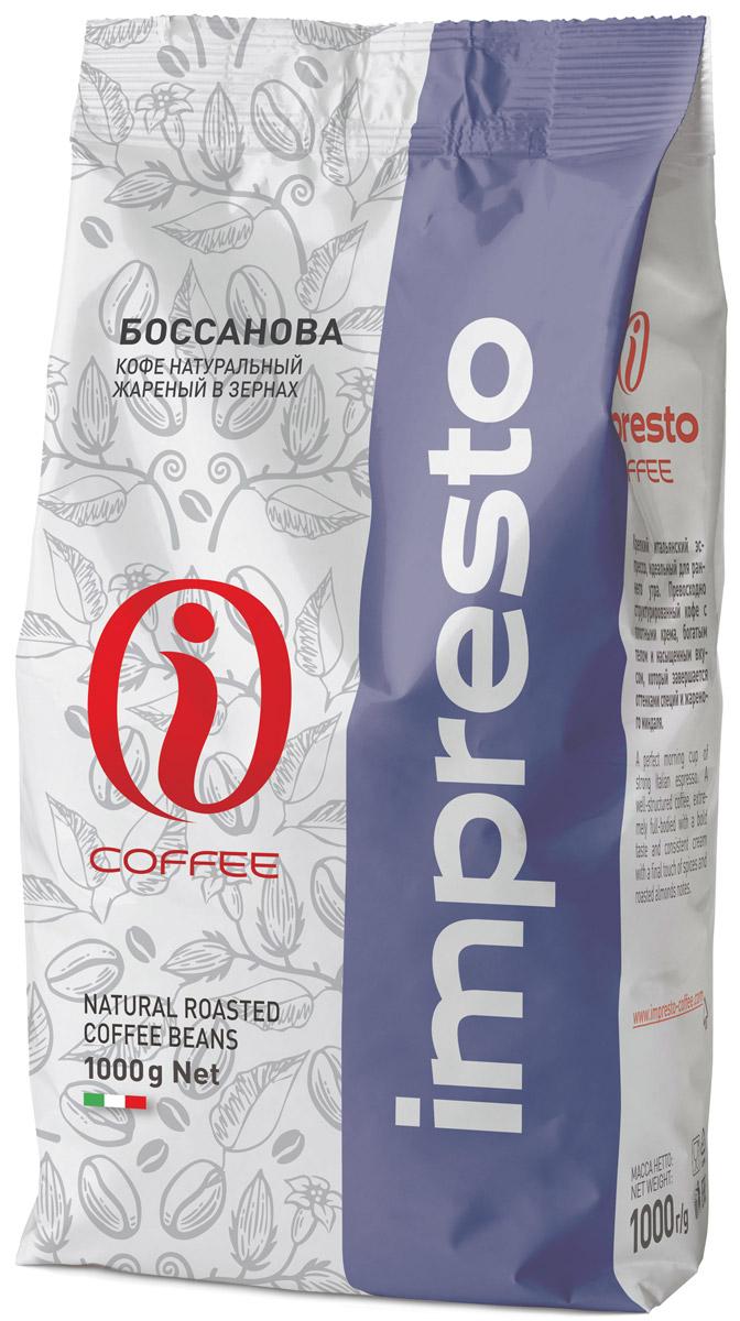 Impresto Bossanova кофе в зернах, 1 кгCIMPCH-000030Кофе Impresto Bossanova (Импресто Боссанова) – данный купаж станет хорошим подарком, подчеркивающим ваш избирательный вкус. Букет обладает тонким и одновременно плотными, богатыми нотками с послевкусием фундука и грецкого ореха.