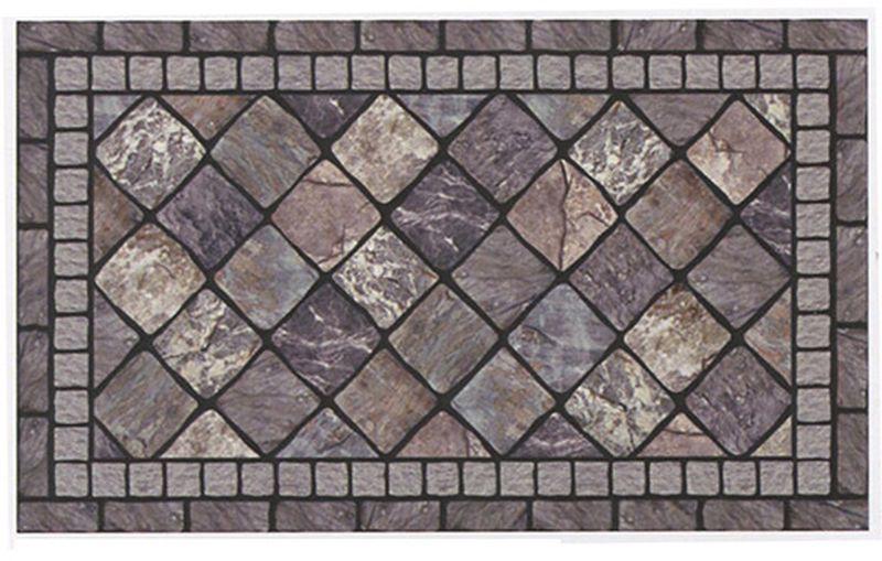 Коврик придверный Apache Mills Stonehedge Grey, 60 х 91 см4652Удивительно красивые натуральные дизайны, представлены в коллекции придверных ковриков APACHE, которые способны перенести Вас с порога вашего дома на мощеные улочки Италии, в сады с дорожками из природного камня или на галичный пляж. Коврики APACHE, кроме неповторимого дизайна, обладают отличными чистящими характеристиками, высокой устойчивостью к загрязнению, высокими водоотталкивающими и гразезащитными свойствами, долговечны, не крошатся и не выцветают. Настоящая находка для тех, кто любит стильные, функциональные и надежные вещи. Коврик может использоваться как перед дверью с уличной стороны, так и внутри помещения, так как основание из переработанной резины не имеет запаха и не пачкает поверхность пола. Материал рабочей поверхности: полиэстер с печатным рисунком высокой четкости. Чистить встряхиванием, возможна чистка пылесосом или под струей воды с применением щедящих моющх средств, сушить на воздухе.