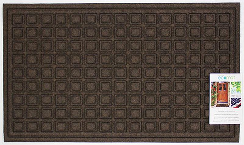 Коврик придверный Apache Mills Textures Blocks Walnut, 46 х 76 см5064Коврик Apache Mills - практичный и долговечный влаговпитывающий придверный коврик. Он изготовлен из резины и полипропилена. Настоящая находка для тех, кто любит функциональные и надежные вещи. Коврик обладает отличными грязезащитными и влаговпитывающими характеристиками, устойчив к появлению плесени. Отличный вариант для использования перед входной дверью в сезон дождей или зимой. Основание из резины не крошится и не растрескивается со временем.