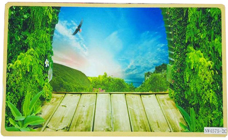 Коврик Dasch Принт. Полет, цвет: голубой, зеленый, 45 х 75 см sitemap 89 xml