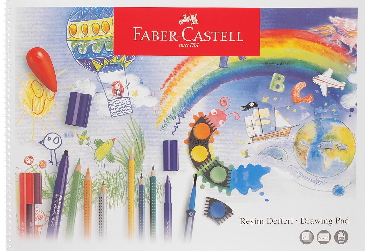 Faber-Castell Блокнот для рисования 15 листов формат А3400035_рисунок 2Блокнот для рисования Faber-Castell идеален для рисунков, эскизов или заметок. Внутренний блок на спирали состоит из 15 листов бумаги формата А3. 15 листов с микроперфорацией для удобного отрыва. Обложка выполнена из картона.