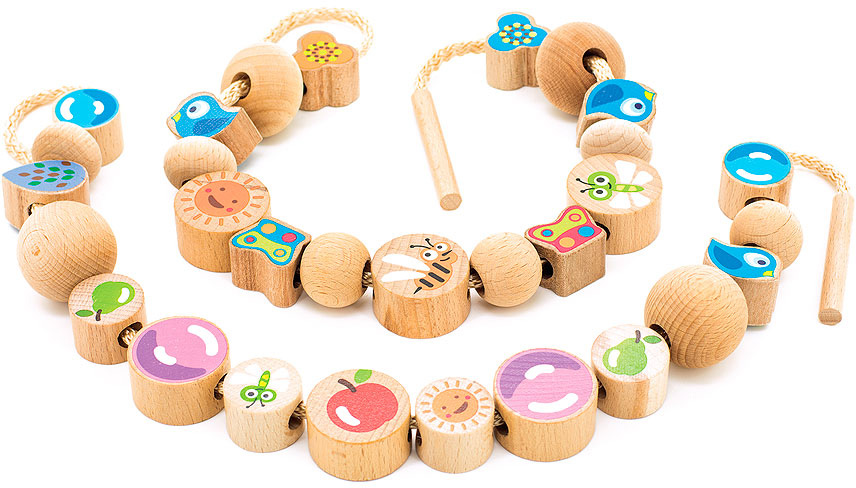 Мир деревянных игрушек Бусы Ассорти 48 шт игрушка мир деревянных игрушек бусы ассорти 48шт д416