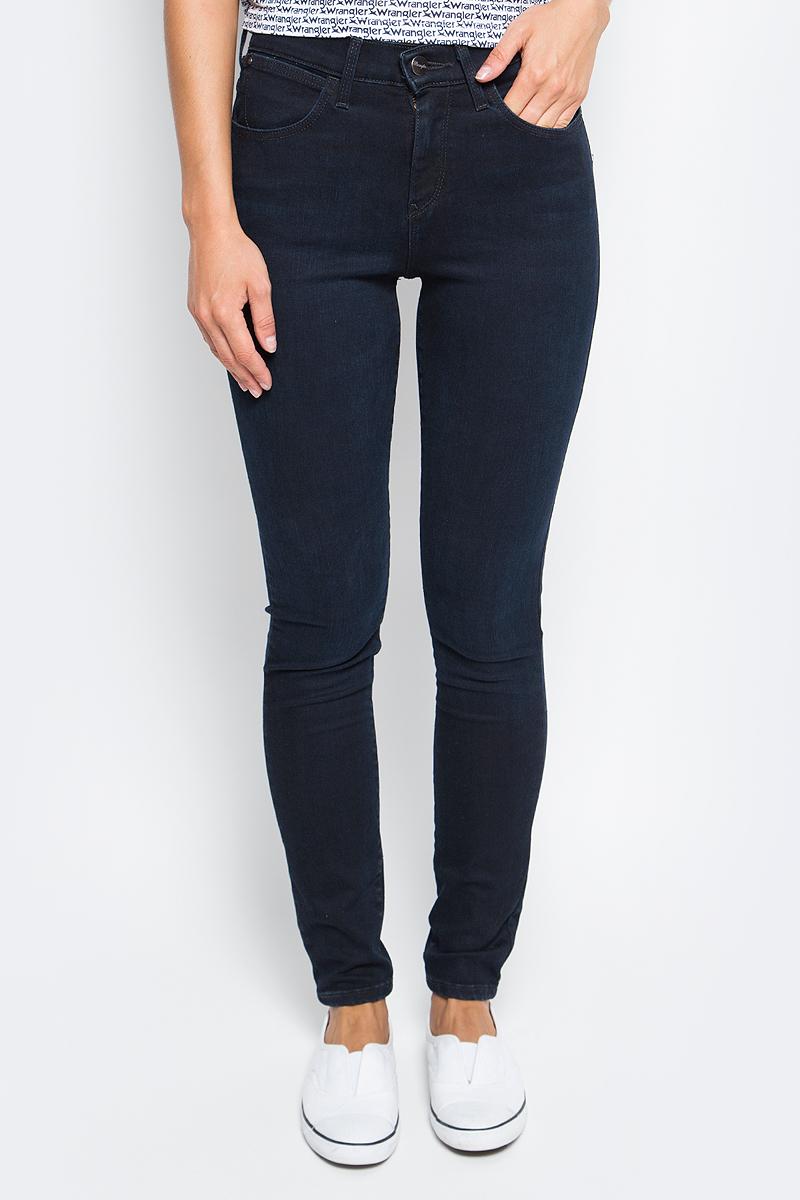 Джинсы женские Wrangler, цвет: темно-синий. W27HCW51L. Размер 29-32 (44/46-32) джинсы женские wrangler цвет темно синий w27hcw51l размер 29 32 44 46 32