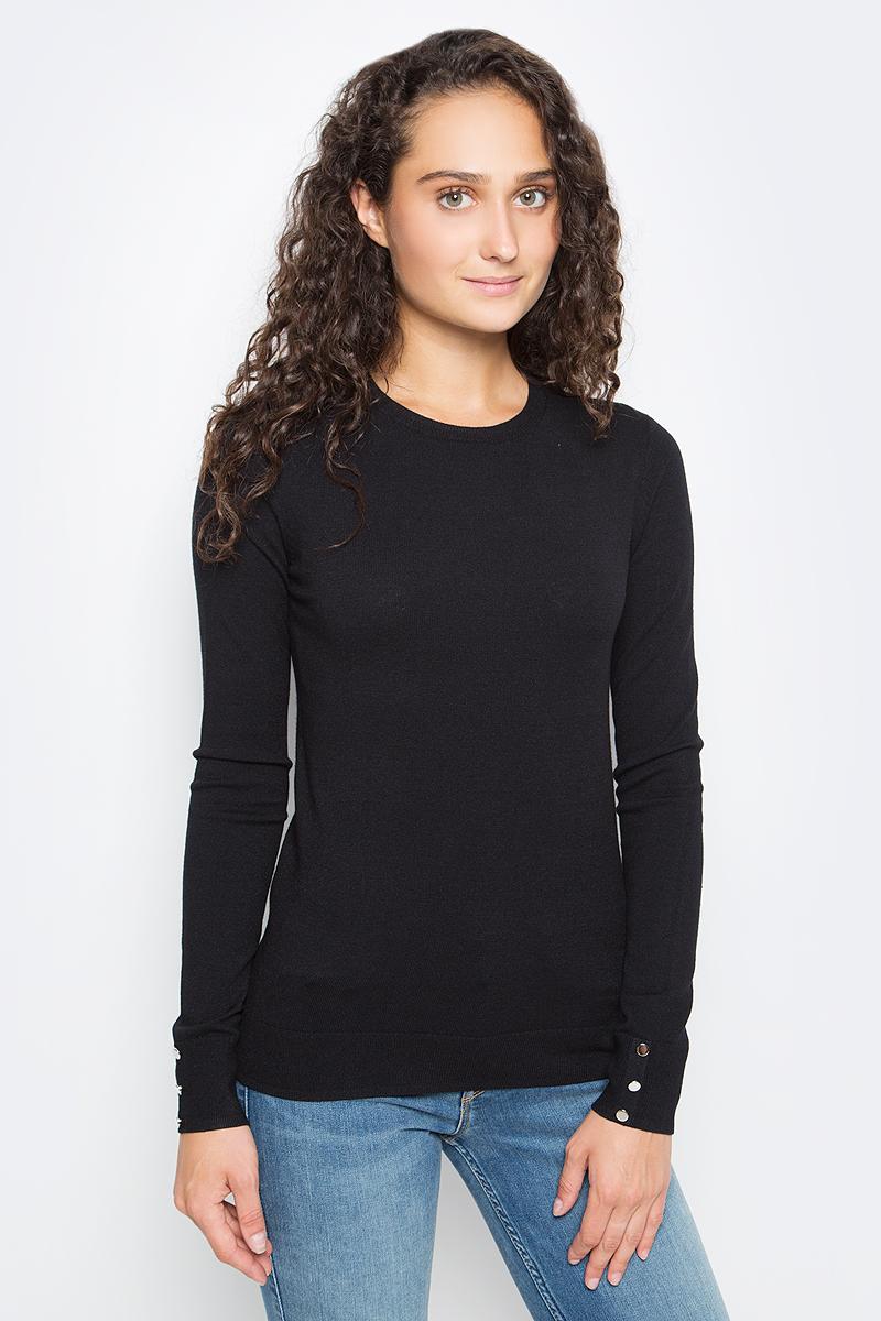 Джемпер женский Sela, цвет: черный. JR-114/1218-7390. Размер M (46) все цены