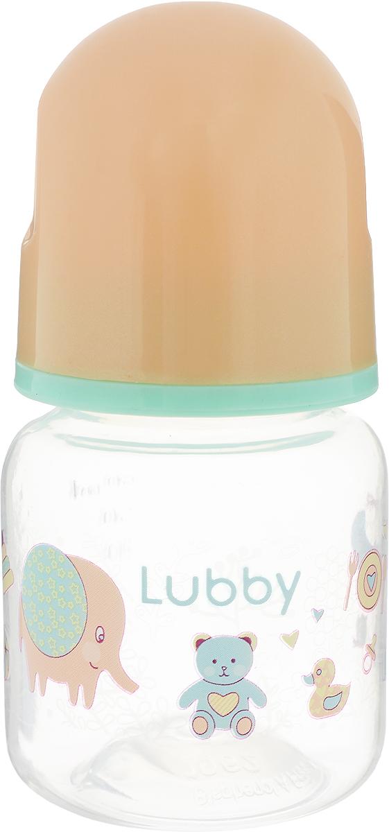 Lubby Бутылочка для кормления Малыши и малышки от 0 месяцев цвет бежевый 60 мл -  Бутылочки