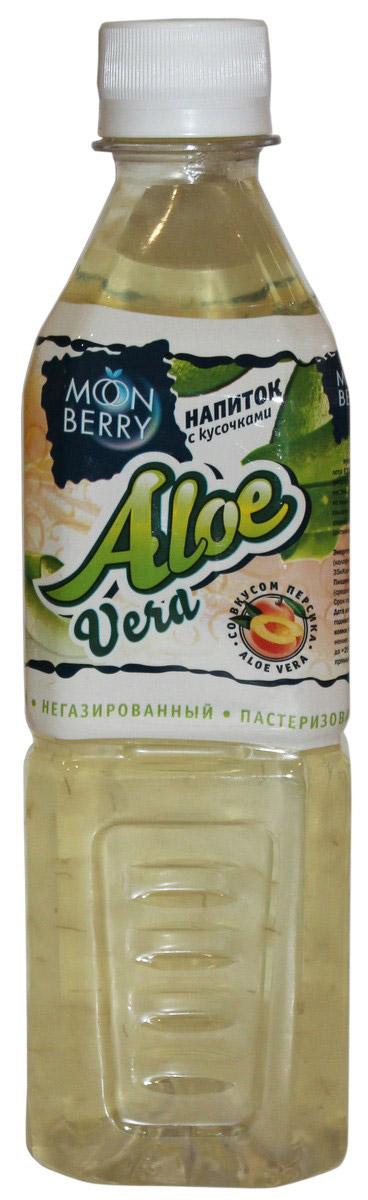 Мооnberry напиток Алоэ персик, 500 мл00000040635Напиток безалкогольный негазированный пастеризованный с кусочками Алоэ, со вкусом персика.