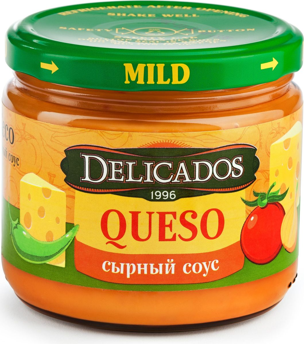 Delicados соус кесо сырный, 312 гбгэ001Соус сырный Кесо сочетается с Nachos Delicados, омлетами, пастой.