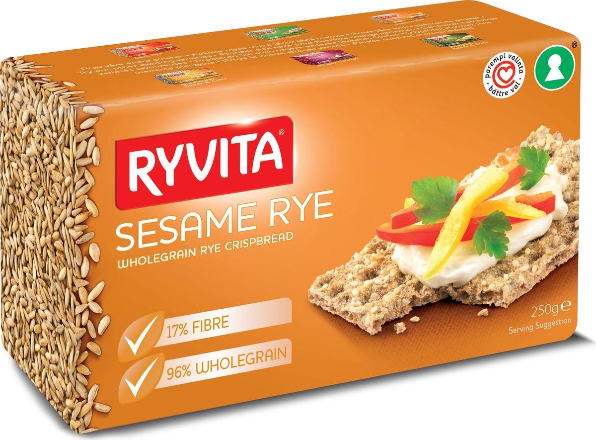 Ryvita Sesame хлебцы из цельного зерна c кунжутом, 250 гбрб002Хлебцы Ryvita являются лидером рынка Великобритании уже на протяжении 50 лет! Производство хлебцев началось в 1930 году, когда стали производить первые хлебцы Oiginal Dark Rye. При производстве своей продукции компания RYVITA 100% использует только рожь, выращенную в Великобритании. Компания постоянно работает с Британскими фермерами над развитием и улучшением ржаных культур для улучшения качества ржи и увеличения урожая ржи. Хлебцы RYVITA это 100% Британские цельнозерновые ржаные хлебцы, которые не подвергались процессу брожения и состоят из цельнозерновой ржаной муки, соли и воды. Хлебцы RYVITA выпекаются при высоких температурах без использования дрожжей, тесто приобретает правильную текстуру в процессе аэрации. В процессе выпекания воздух подается в охлажденное тесто, при этом верхний слой хлебцев приобретает светлый цвет готового хлеба.
