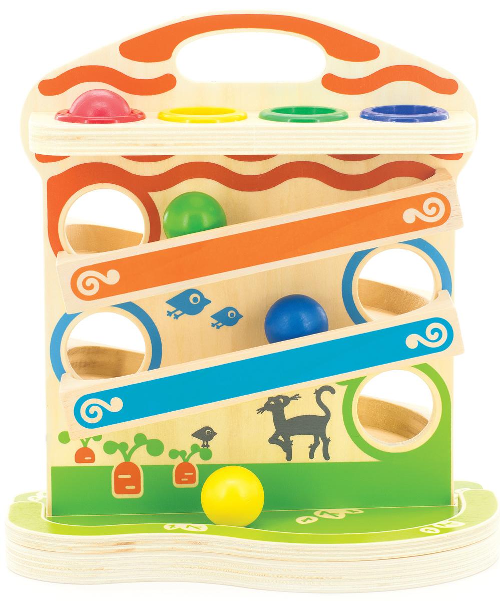 Мир деревянных игрушек Развивающая игрушка Горка-шарики игрушка мир деревянных игрушек куб сафари д373