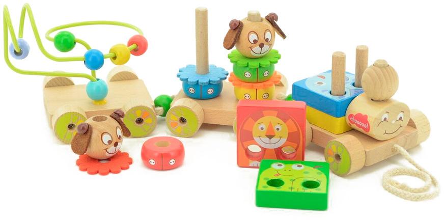 Мир деревянных игрушек Развивающая игрушка Паровозик Чух-чух №1 мир деревянных игрушек конструктор паровозик д018