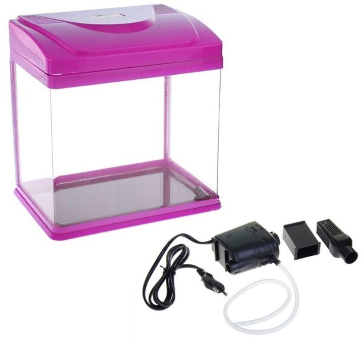 Аквариум Sea Star HX-320F, цвет: пурпурный, прозрачный, 22 лHX-320F purpleАквариум Sea Star HX-320F станет отличным украшением дома или офиса. Элегантная емкость укомплектована необходимым оборудованием (энергопотребление - 3 Вт), которое позволяет максимально быстро подготовить экосистему и заселить ее рыбками.Выгнутая передняя стенка выполнена из полированного акрила - материала, который не уступает по прочности стеклу и отличается исключительной прозрачностью. Он не царапается и дает возможность наблюдать за обитателями аквариума из любого угла комнаты.Изделие имеет пластиковую крышку с отверстием для кормления и откидной панелью для быстрого доступа к оборудованию. В комплект входят: LED-светильник, количество и мощность диодов которого идеально соответствуют емкости аквариума, обеспечивая правильное развитие растений и рыбок;встроенный в крышку переливной фильтр с бесшумной помпой и губчатым наполнителем для биологической очистки.