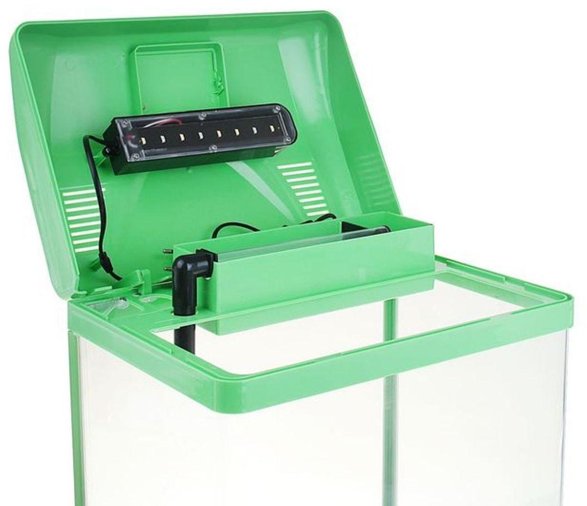 Аквариум Sea Star HX-380F, цвет: зеленый, прозрачный, 40 л фильтр для аквариума sea star hx 1380f2 внутренний 25w 1800 л ч