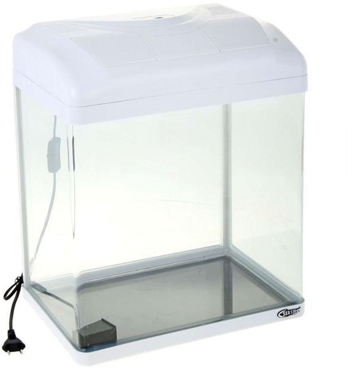 Аквариум Sea Star HX-380F, цвет: белый, прозрачный, 40 лHX-380F whiteАквариум Sea Star HX-380F станет отличным украшением дома или офиса. Элегантная емкость укомплектована необходимым оборудованием (энергопотребление - 3 Вт), которое позволяет максимально быстро подготовить экосистему и заселить ее рыбками.Выгнутая передняя стенка выполнена из полированного акрила - материала, который не уступает по прочности стеклу и отличается исключительной прозрачностью. Он не царапается и дает возможность наблюдать за обитателями аквариума из любого угла комнаты.Изделие имеет пластиковую крышку с отверстием для кормления и откидной панелью для быстрого доступа к оборудованию. В комплект входят: LED-светильник, количество и мощность диодов которого идеально соответствуют емкости аквариума, обеспечивая правильное развитие растений и рыбок;встроенный в крышку переливной фильтр с бесшумной помпой и губчатым наполнителем для биологической очистки.