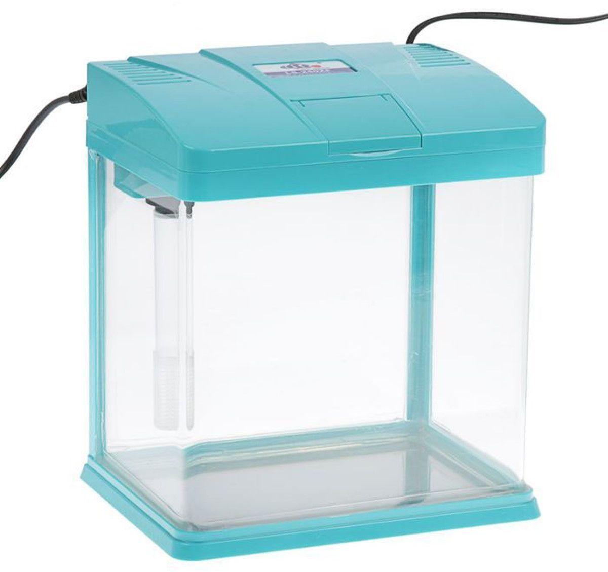 Аквариум Sea Star  LS-240 , цвет: голубой, прозрачный, 12 л - Аквариумы и террариумы