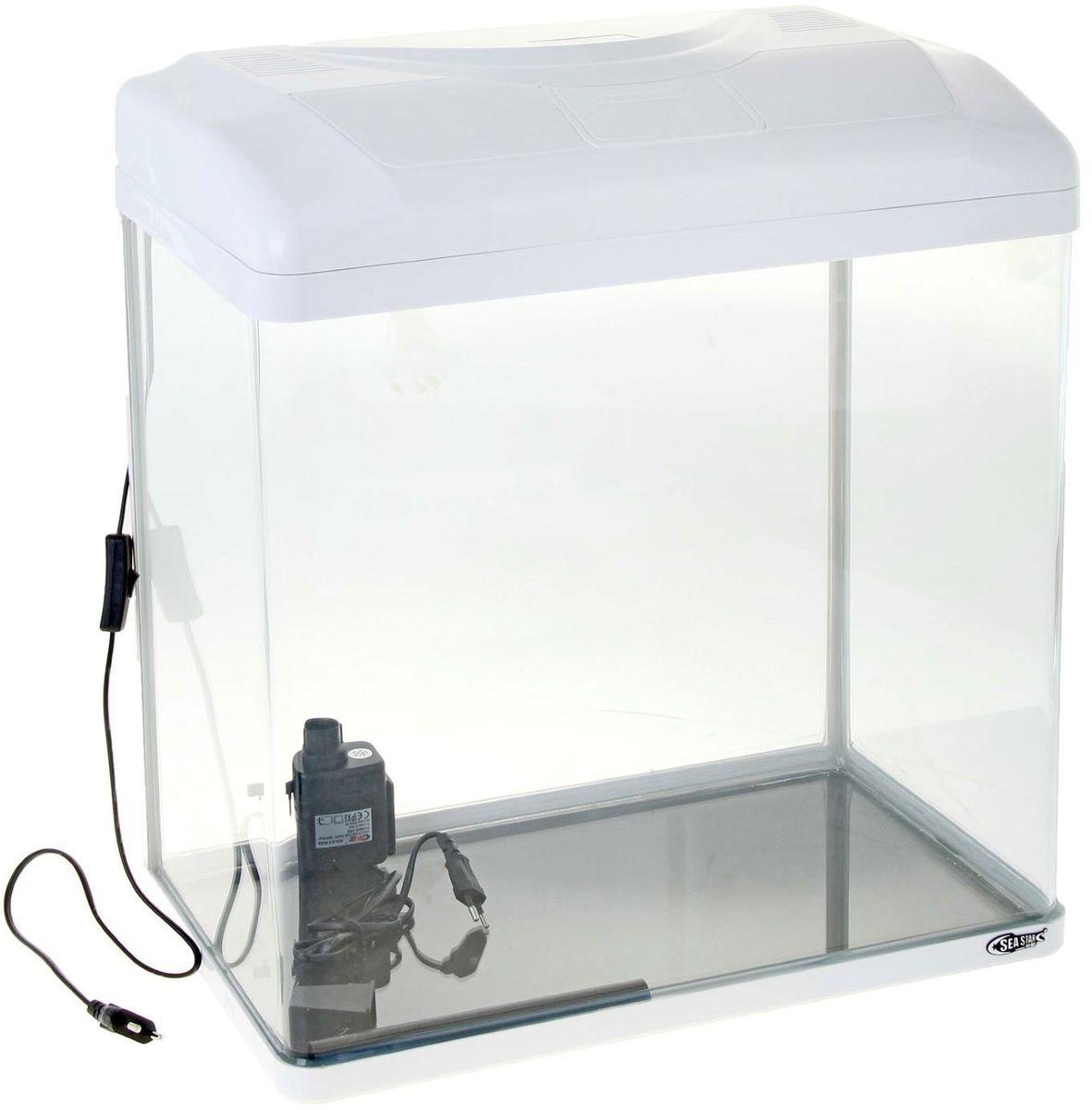 Аквариум Sea Star HX-500ZF, цвет: белый, 70 лHX-500ZF whiteЛампа дневного света и встроенный фильтр.