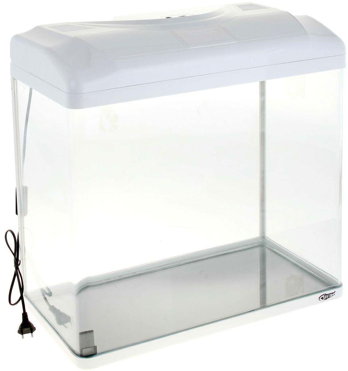 Аквариум Sea Star HX-580ZF, цвет: белый, 90 лHX-580ZF whiteЛампа дневного света и встроенный фильтр.
