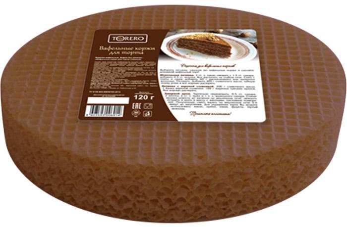 Тореро вафельные коржи для торта темные, 120 г