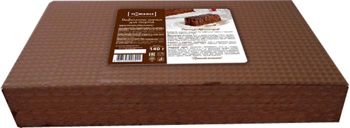 Тореро вафельные коржи для торта темные, 140 г